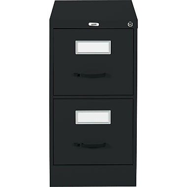 Staples® Vertical Letter File Cabinet, 2-Drawer, Black