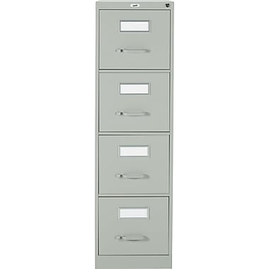 Staples® Vertical Letter File Cabinet, 4-Drawer, Grey