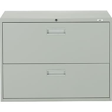 Staples Lateral File Cabinet, 2-Drawer, Grey