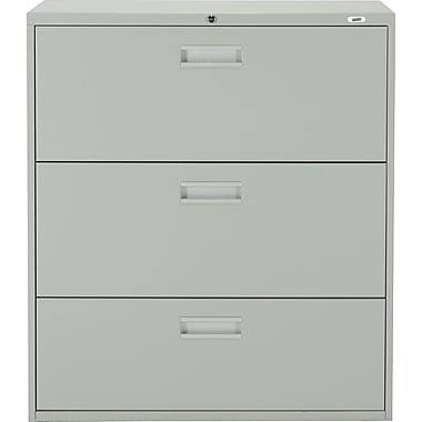 Staples® Lateral File Cabinet, 3-Drawer, Grey