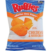 Ruffles® Cheddar & Sour Cream Potato Chips, 1.5 oz. Bags, 64/Box