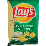 Lay's® Sour Cream & Onion Potato Chips, 1.5 oz. Bags, 64 Bags/Box