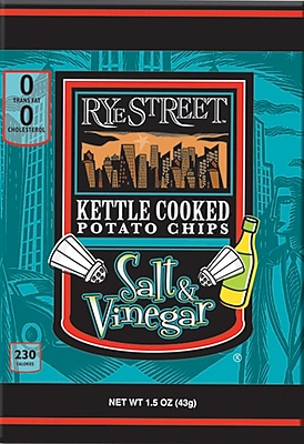 Rye Street® Kettle Cooked Salt & Vinegar Potato Chips, 1.5 oz. Bags, 55 Bags/Box