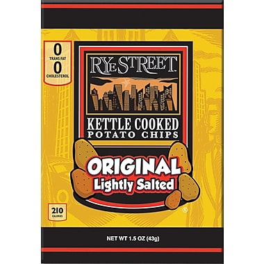 Rye Street® Kettle Cooked Original Lightly Salted Potato Chips, 1.5 oz. Bags, 55 Bags/Box