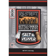 Rye Street® Kettle Cooked Salt & Pepper Potato Chips, 1.5 oz. Bags, 55 Bags/Box