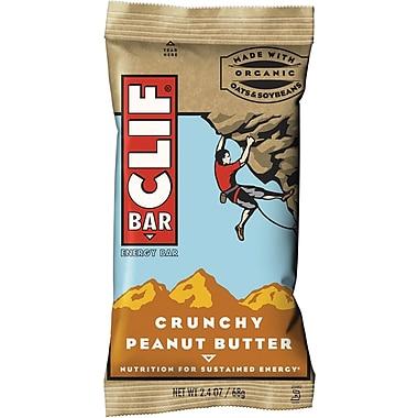 Clif® Bars Crunchy Peanut Butter, 2.4 oz. Bars, 12 Bars/Box