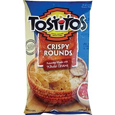 Tostitos® Crispy Rounds Tortilla Chips, 3 oz. Bags, 28 Bags/Box