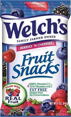Welch's® Fruit Snacks, Berries 'N Cherries, 5 oz. Bags, 12 Bags/Box