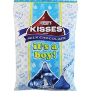 Hershey's Kisses Milk Chocolates with It's A Boy Plume, 7 oz., 12/Case