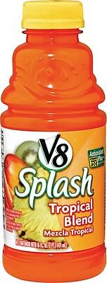 V8® Splash® Tropic Blend Juice Drink, 16 oz. Bottles, 12/Pack