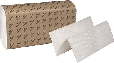 Brighton Professional 1-Ply Multifold Paper Towels, White, 4,000/Case (410180/61913)