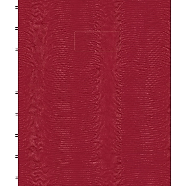 Blueline® - Cahier MiracleBind à couverture rigide, 150 pages, 9 po x 7 po, rouge genre lézard, 150 pages