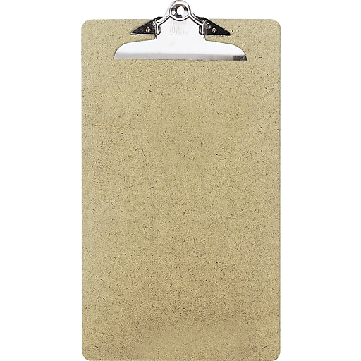 oic recycled hardboard clipboard legal brown 9 x 15 1 2 staples