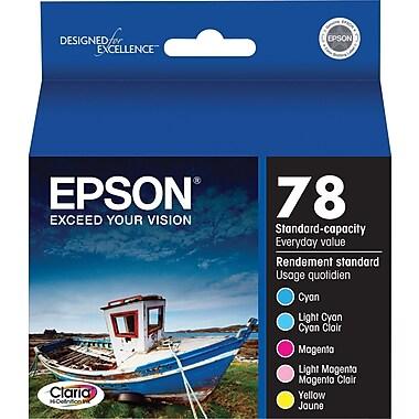 Epson® – Cartouches d'encre couleur 78, T078920, paquet combiné (TO78920)