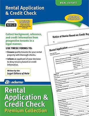 Adams Rental Application Credit Check Staples