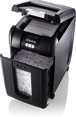 Swingline® Stack-and-Shred™ 300X Auto Feed Shredder, SmarTech™ Enabled, Super Cross-Cut, 300 Sheets (1757576)