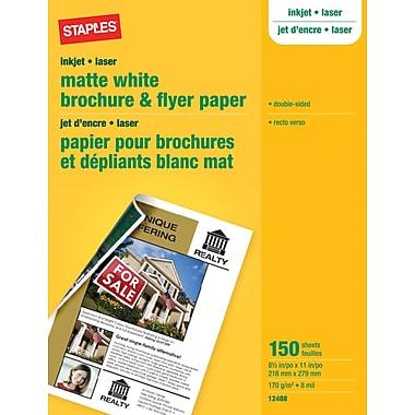 Staples® - Papier à brochure et circulaire, mat, 8½ x 11 po