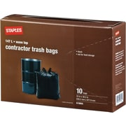 Staples® Contractor Garbage Bags, 10-Pack