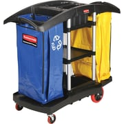 Rubbermaid Cleaning Cart, Double Capacity