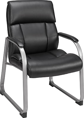 Staples Herrick Bonded Leather Guest Chair, Black