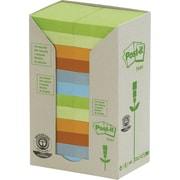 """Post-it® Recycled Assorted Pastel Towers, 1.5"""" x 2"""", 24 pads/pack"""