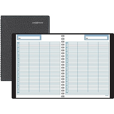 DayMinder® Four Person Undated Daily Group Appointment Book Planner, 7 7/8