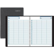 "DayMinder® Four-Person Undated Daily Group Appointment Book Planner, 7 7/8"" x 11"""