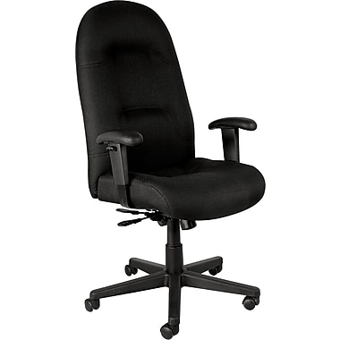Staples® Executive Deluxe High-Back Tilt Chair, Black