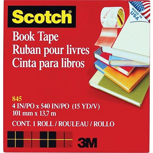 "Scotch® Book Tape, 4"" x 15 yds., 1/Roll (845-400)"