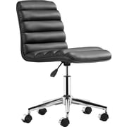 Zuo Modern Admire Faux Leather Managers Mid-Back Chair, Black