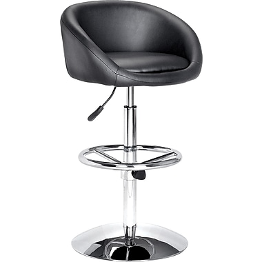 Zuo Modern Concerto Faux Leather Bar Stool, Black