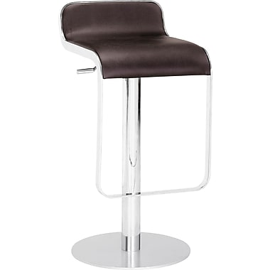 Zuo Modern Equino Faux Leather Bar Stool, Espresso