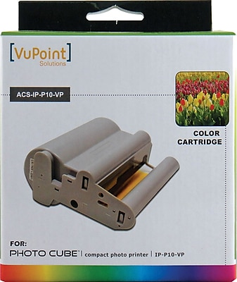 Vupoint Photo Cube Acs Ip P10 Vp Color Ink And Paper Cartridge Staples