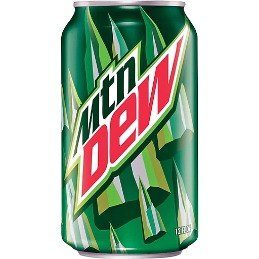 mountain dew 12 oz cans 24 pack staples