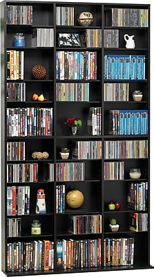 Atlantic® Games Media Tower Cabinet, Espresso Finish