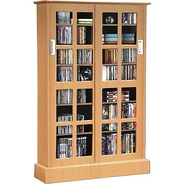 Atlantic® Windowpanes Media Storage Cabinet With Sliding Glass