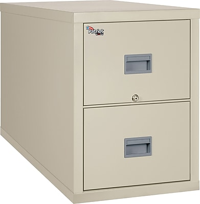 """""FireKing Patriot Vertical File Cabinet, Legal, 2-Drawer, Parchment, 31 9/16""""""""D, Truck to Loading Dock"""""" 356157"