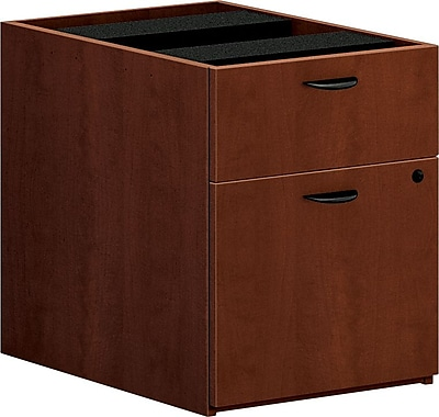 basyx by HON Box/File Pedestal, Medium Cherry, 19 1/4