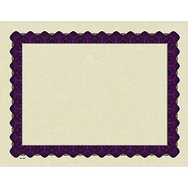 Great Papers® Parchment Certificate Paper with Metallic Purple Border, 100/Pack