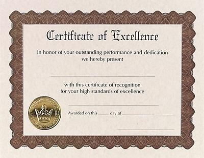 Masterpiece Studios® Award Certificates, Excellence