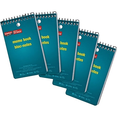 Staples® - Blocs-notes, 3 po x 5 po, 600 feuilles, paq.5