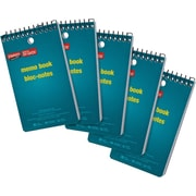 "Staples Memo Books, 3"" x 5"", 60 Sheets, 5/Pack"