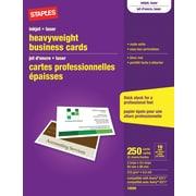 Staples® - Cartes professionnelles pour imprimantes jet d'encre, blanc mat, paq./250