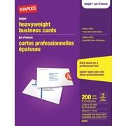Staples® - Cartes professionnelles pour imprimantes jet d'encre, blanc lustré, paq./200