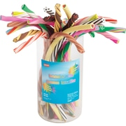 Staples ® Twisted Erasers, Assorted, 24/Tub