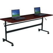 Balt Economy 60'' Rectangular Flip Top Training Table, Mahogany (90096)