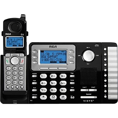 RCA 25212 DECT 6.0 2-Line Cordless Telephone with Caller ID