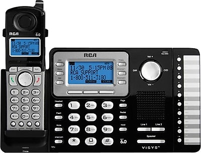 rca 25212 dect 6 0 2 line cordless telephone with caller id staples rh staples com AT&T DECT 6.0 User Manual Uniden- DECT 6.0 User Manual