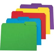 Staples Heavyweight File Folders, 3 Tab, Letter Size, Assorted Colors, 250/Box (18363PK)