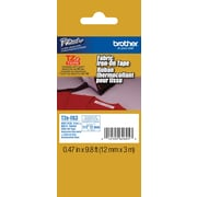 "Brother TZe-FA3 1/2"" P-Touch Iron-On Label Tape Navy on White"